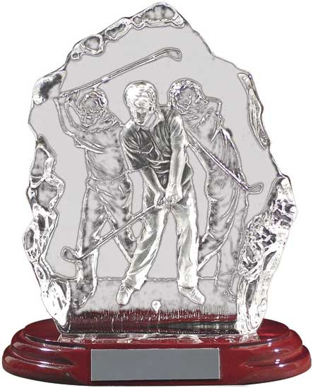 Glass Golf Trophy - 7 1/2""