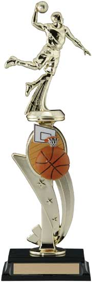 Basketball 3D Sports Riser Trophy - 13""
