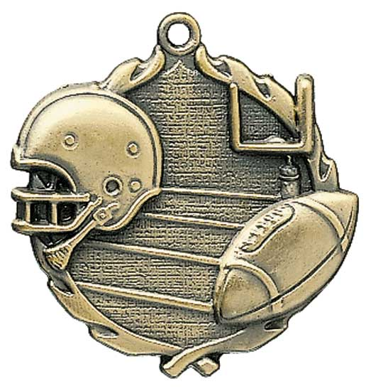 Football Die Cast Medal - 2 1/2""