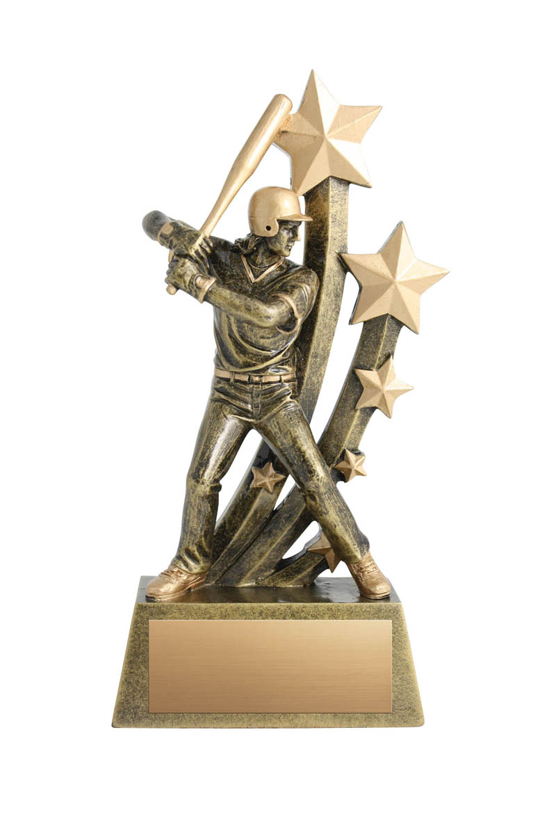 Sentinel Female Baseball Trophy - 8 3/4""