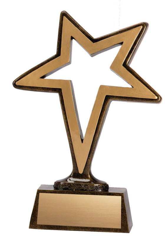 Pinnacle Star Trophy - 6""