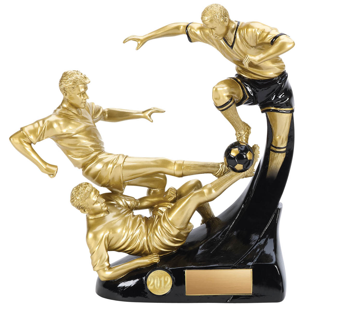 Evolution Triple Male Soccer Trophy - 8""
