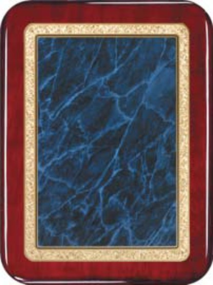 "Rosewood Plaque - Blue 7"" x 9"" Rounded"