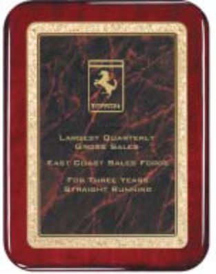 "Rosewood Plaque - Red 8"" x 10"" Rounded"