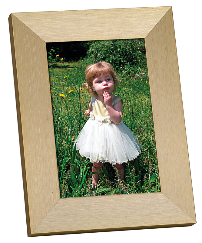 "Gold Anodized Aluminum Photo Frame - 6"" x 8"""
