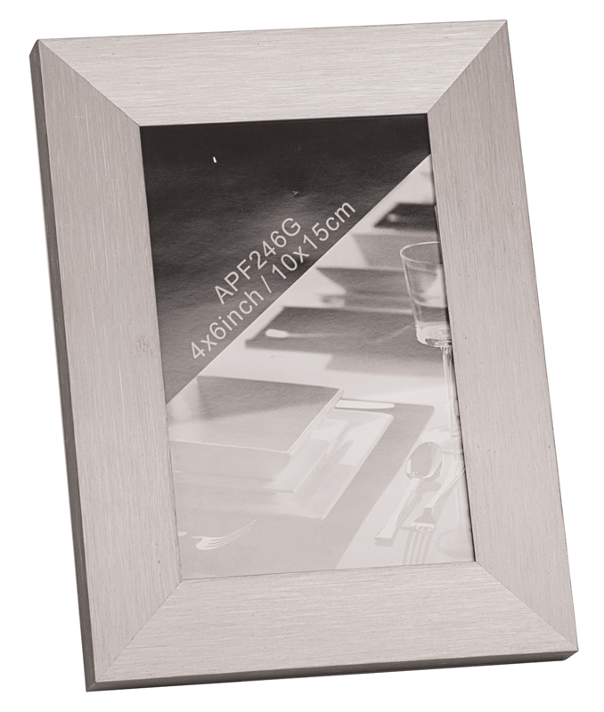 "Silver Anodized Aluminum Picture Frame - 7"" x 9"""
