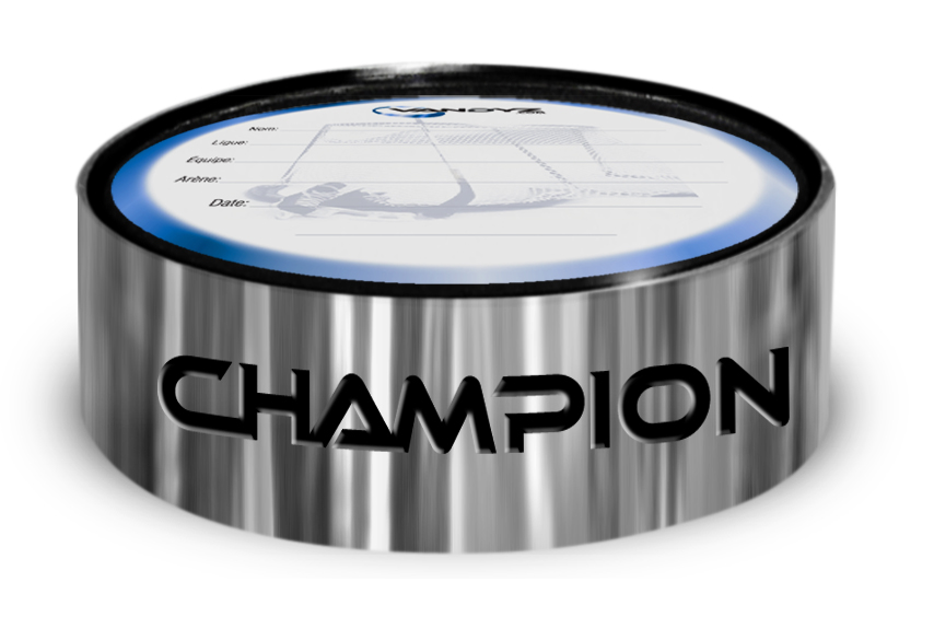 """Champion"" Hockey Puck Ring"