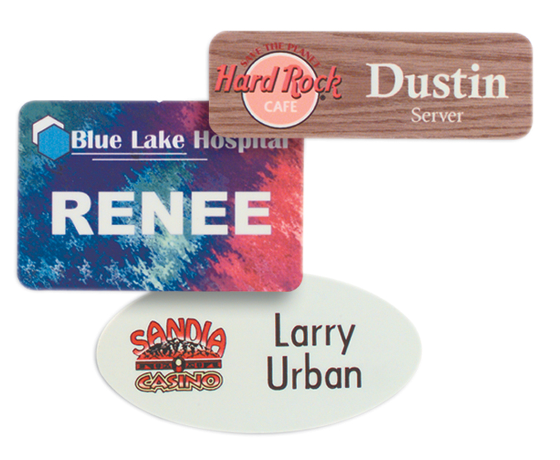 "3"" x 1 1/2"" Full Color Name Tag"