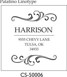 Designer Address Stamp - CS-50006PSI