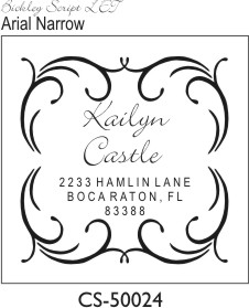 Designer Address Stamp - CS-50024PI