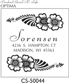 Designer Address Stamp - CS-50044