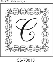 Designer Monogram Stamp - CS-70010GL