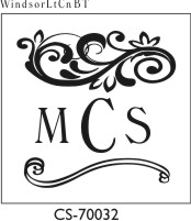 Designer Monogram Stamp - CS-70032