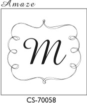 Designer Monogram Stamp - CS-70058SI