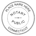 Connecticut Notary Stamp - 1 5/8""