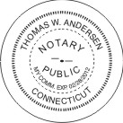 "Connecticut Notary Stamp - 1 5/8"" w/Expiry"
