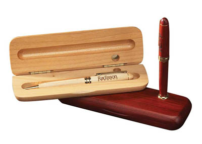 Single Pen Box/Stand - Rosewood (pens extra)