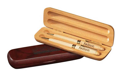 Double Pen & Pencil Box - Maple (pens extra)