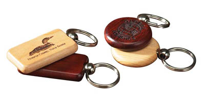 Round Key Fob - Maple