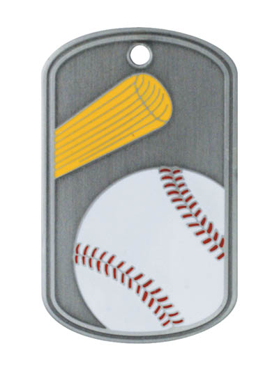 Baseball Stainless Steel Dog Tag