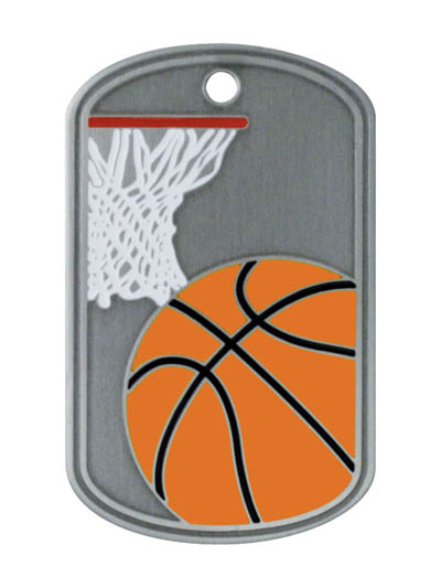 Basketball Stainless Steel Dog Tag