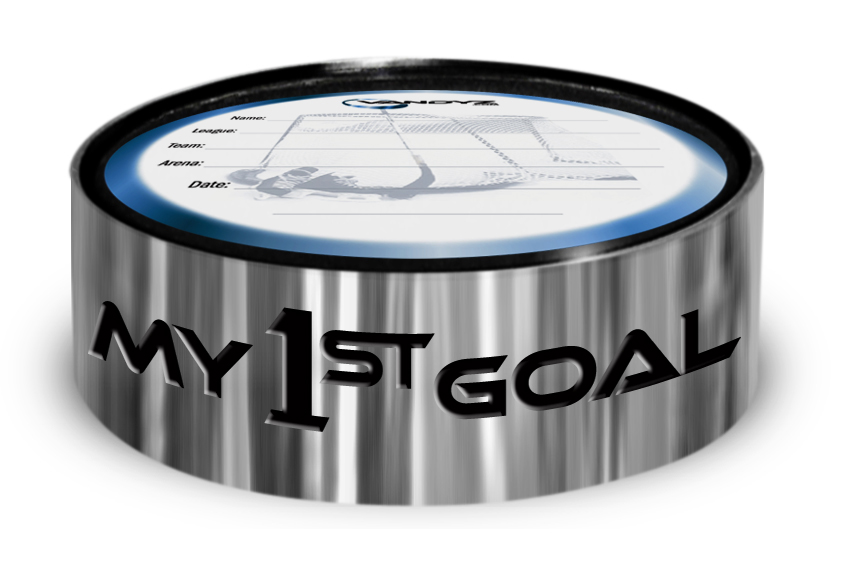 """My First Goal"" Hockey Puck Ring"