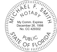 "Florida Notary Seal - 2"" LR Model Only"
