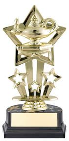 Lamp of Knowledge Superstar Sport Trophy