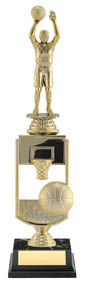 "Basketball All Star Sport Trophy - 13"" (riser)"