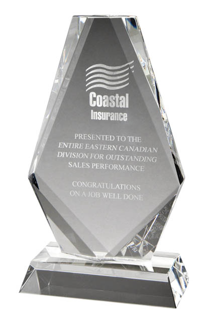 "GCY1558A - 7 1/4"" Crystal Award"