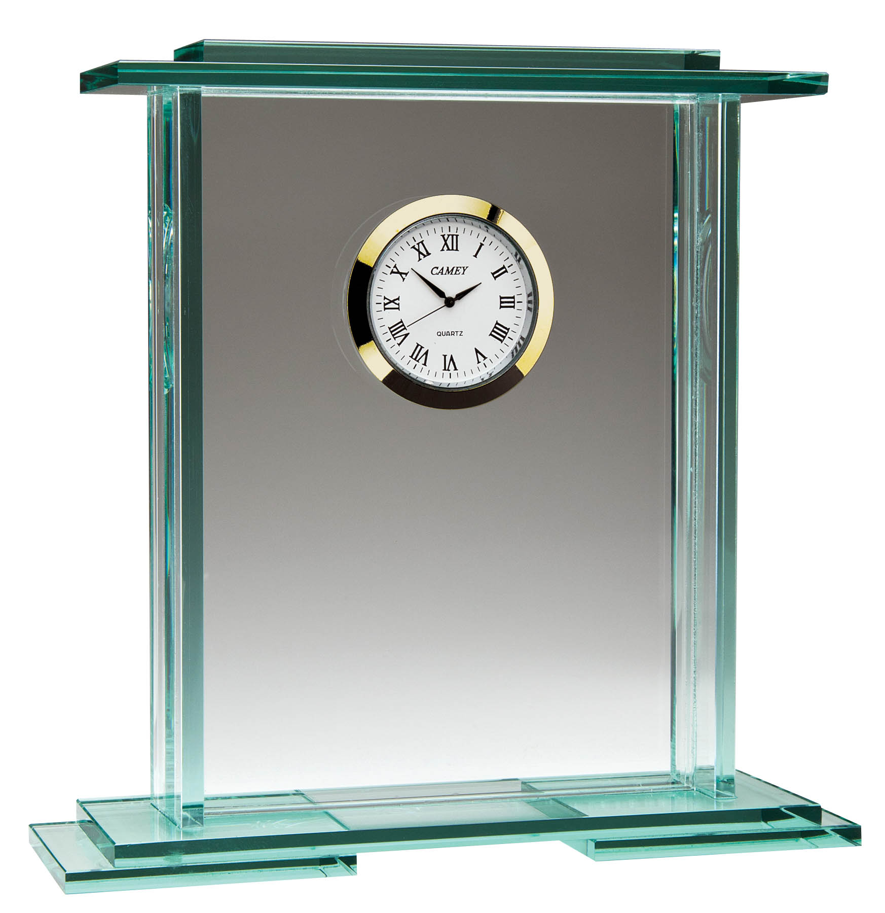 Glass Clock - GLC 7655 - 6 3/4""