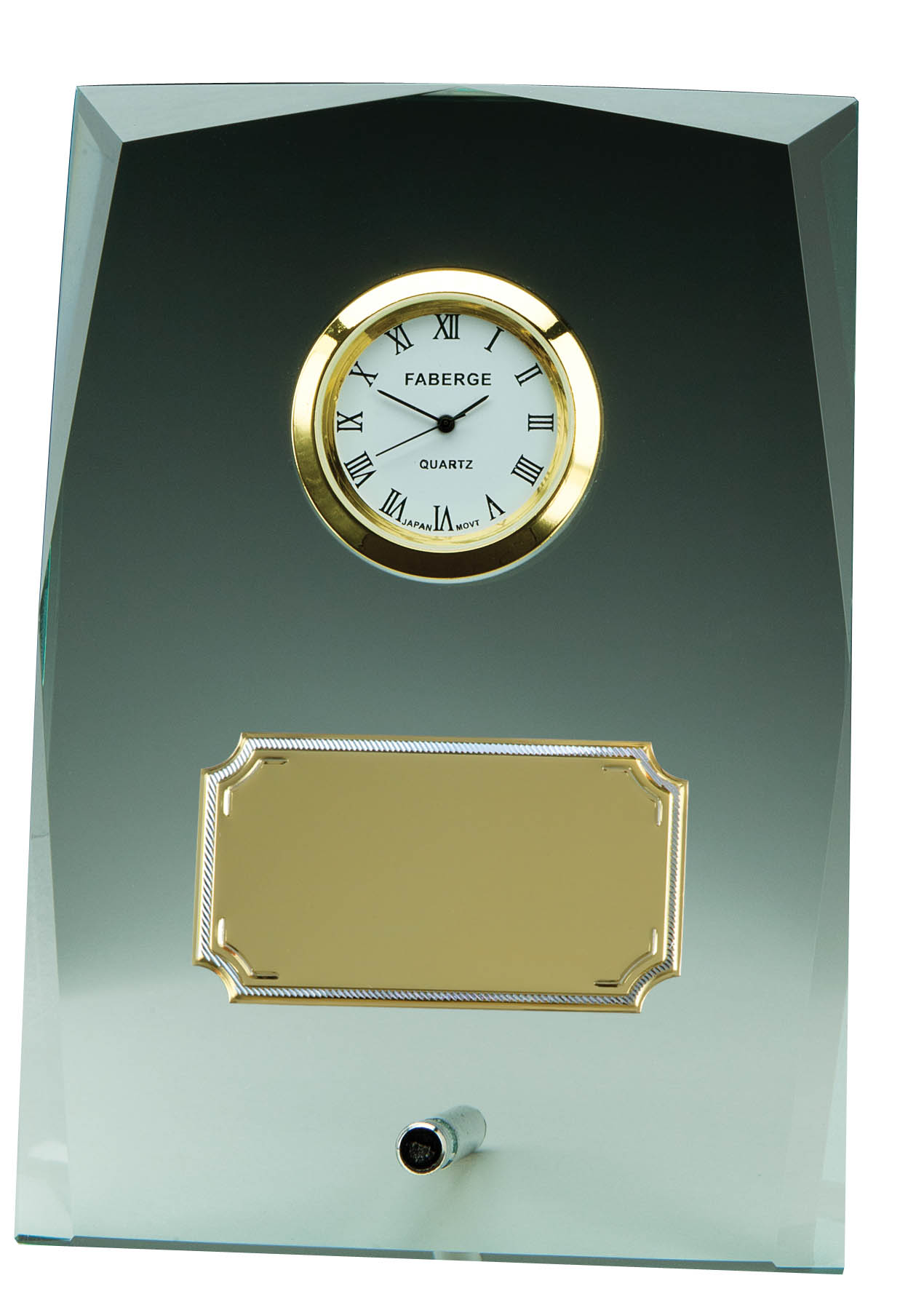 "Glass Clock - GLC 225J - 5 1/4"" x 3 3/4"""