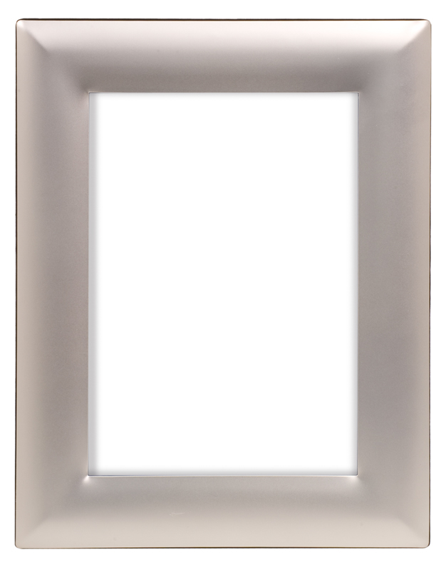 "Smooth Silver Metal Picture Frame - 7 1/4"" x 9 1/4"""