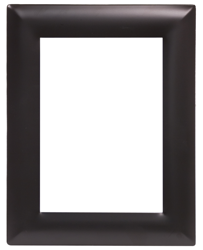 "Smooth Black/Silver Metal Picture Frame - 10 3/4"" x 12 3/4"""