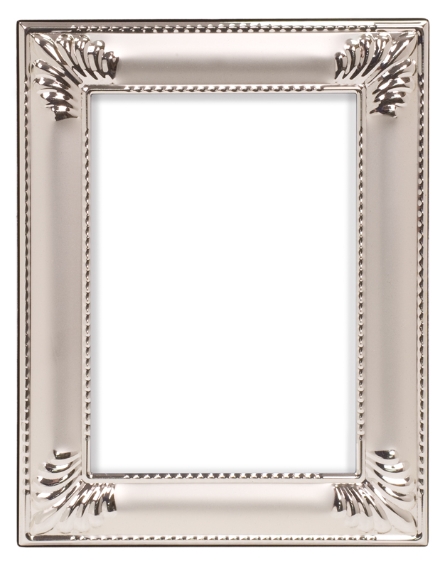 "Seashell/Smooth Silver Metal Picture Frame - 10 3/4"" x 12 3/4"""