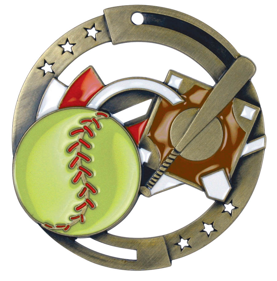 Softball M3XL Series Medal