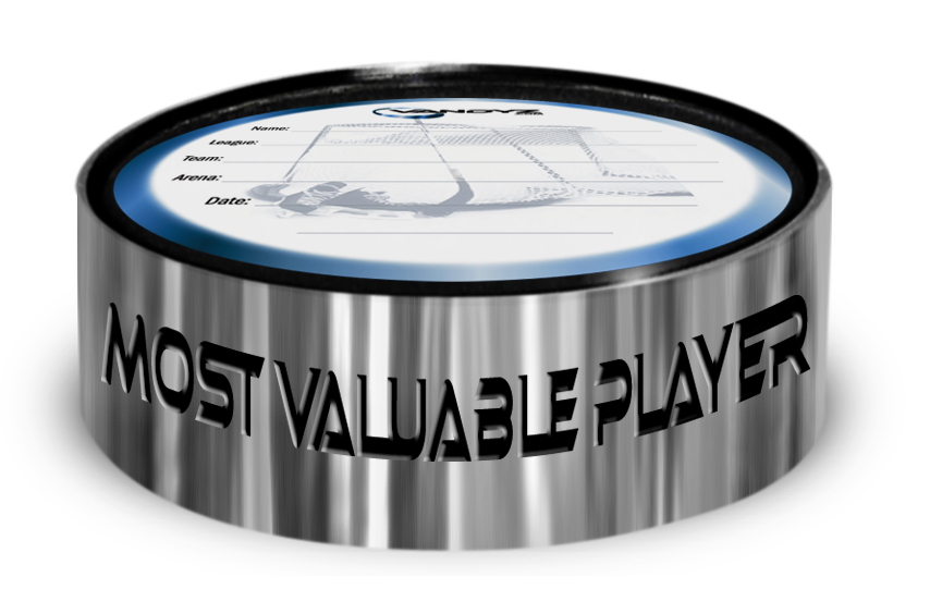 """MVP"" Hockey Puck Ring"