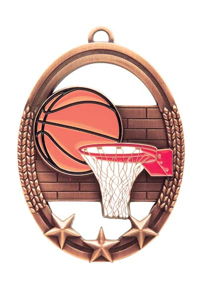 Basketball Tri Star Sport Medal