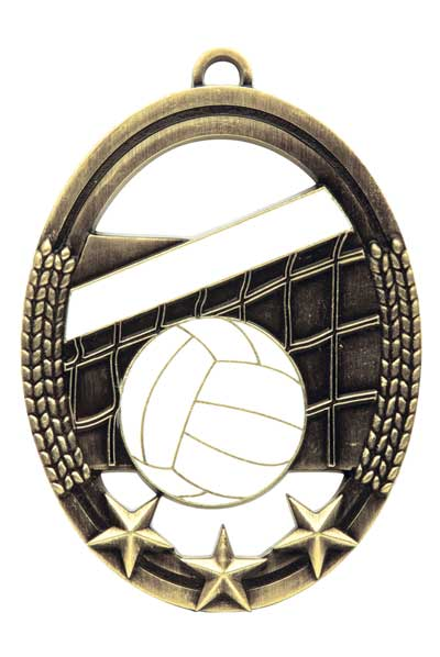 Volleyball Tri Star Sport Medal