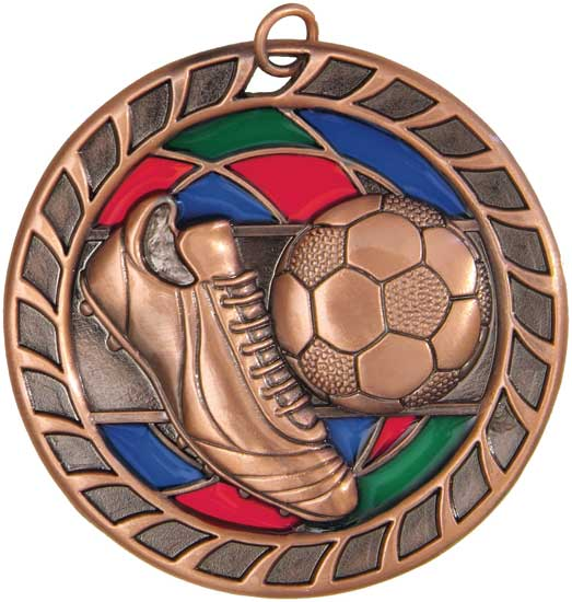 Soccer Stained Glass Medal