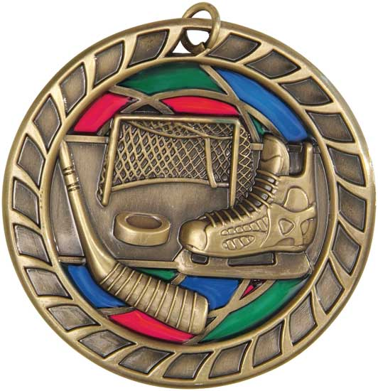 Hockey Stained Glass Medal