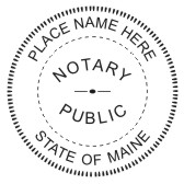 Maine Notary Seal