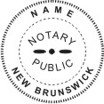 New Brunswick Notary Seal - 1 5/8""