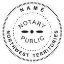 Northwest Territories Notary Stamp - 1 5/8""