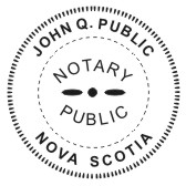 Nova Scotia Notary Seal - 1 5/8""