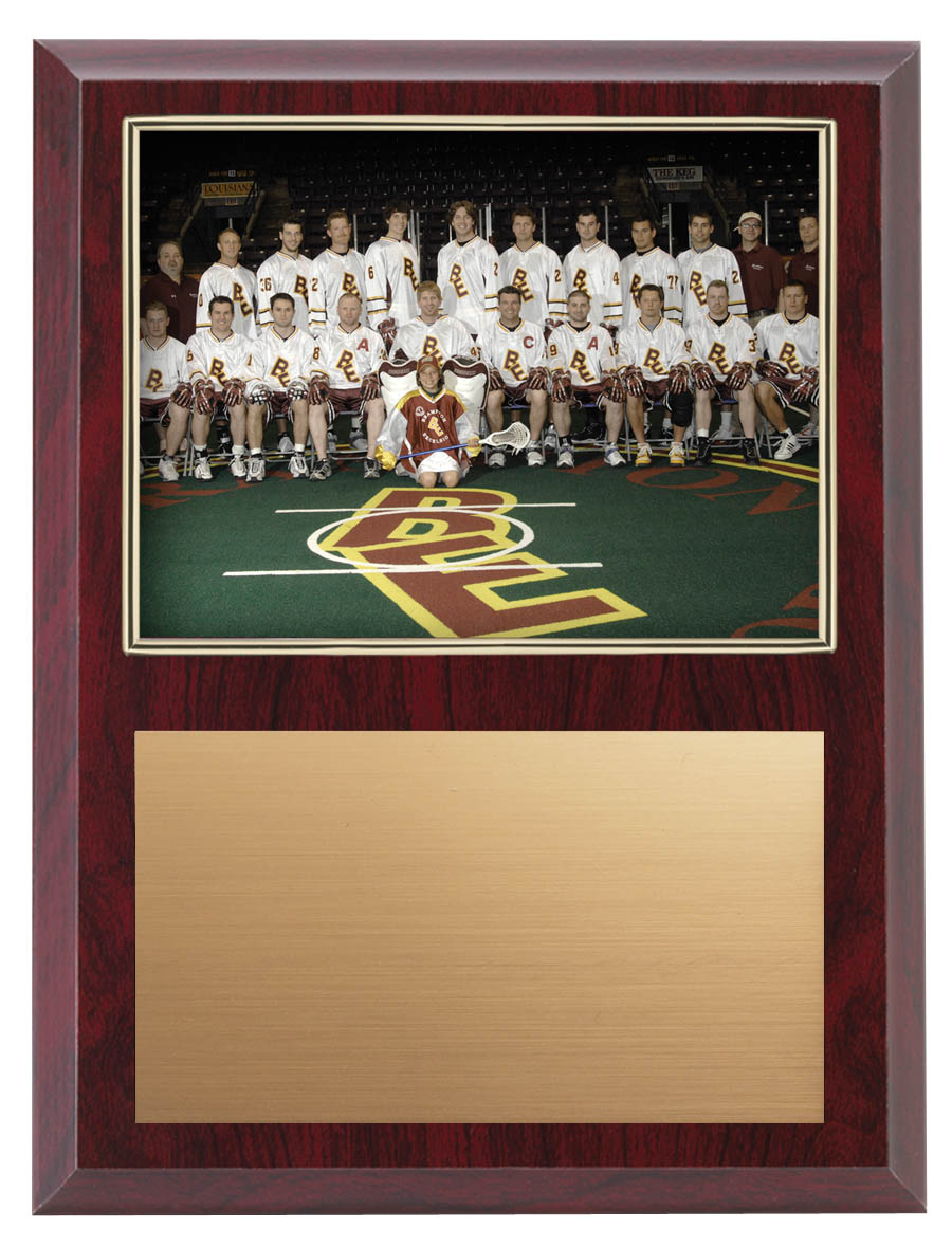 "Gold Border Team Photo Plaque - 9"" x 12"""