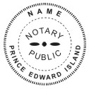Prince Edward Island Notary Seal - 1 5/8""