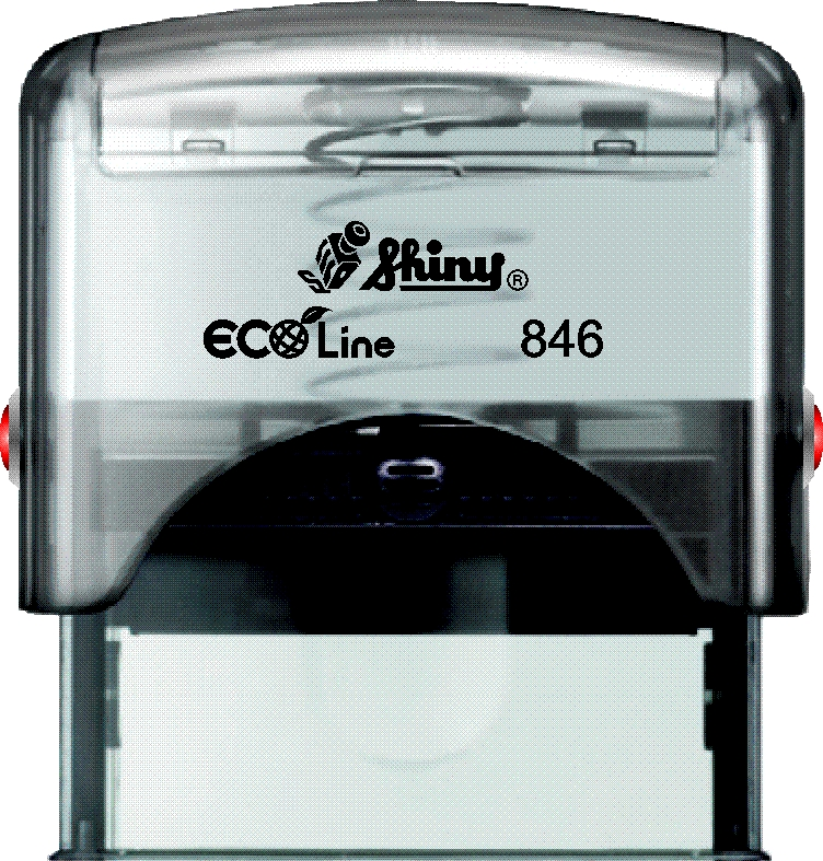 "Shiny S-846 Self-Inking Stamp (1"" 1/16 x 2 9/16"")"