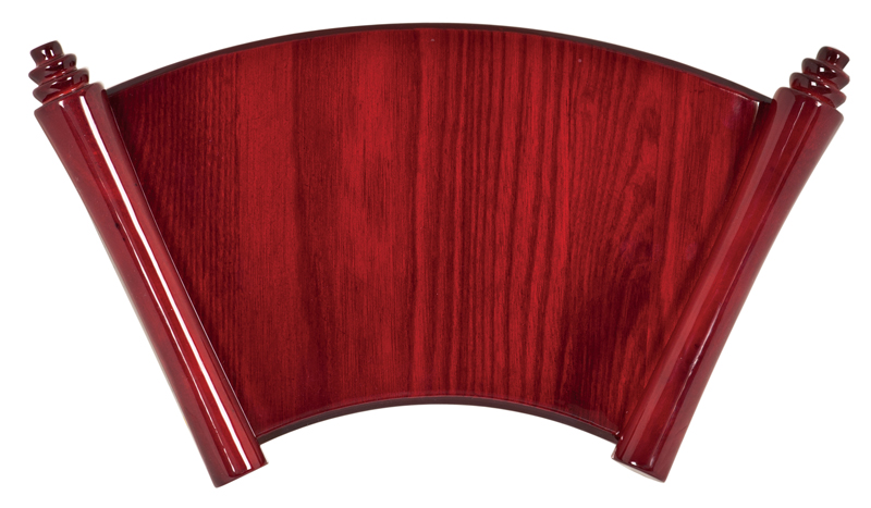 "Rosewood Piano Finish Scroll Plaque - 14 1/4"" x 8 1/2"""