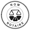 Quebec Notary Stamp - 1 5/8""